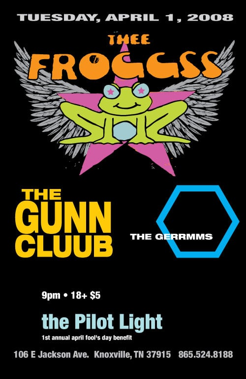 Thee Froggss, Gerrmms + Gunn Cluub at the Pilot Light, Knoxville Tuesday