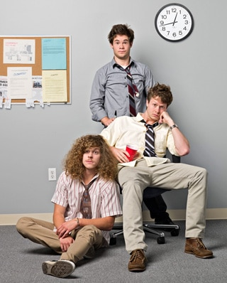 Steven Cerio art on Comedy Central's Workaholics