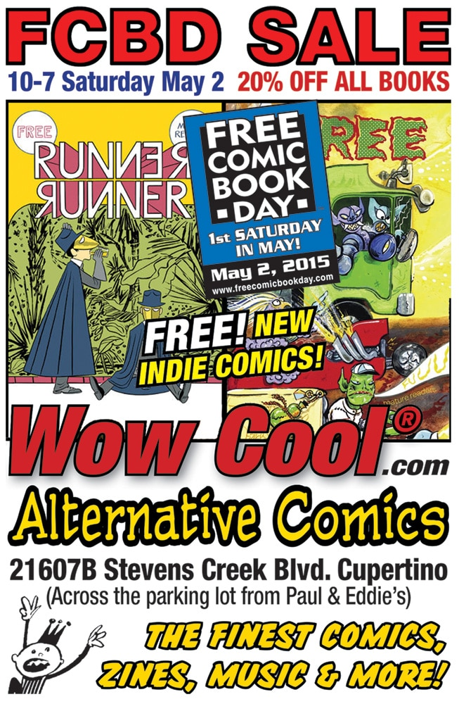 Free Comic Book Day at Wow Cool Alternative Comics