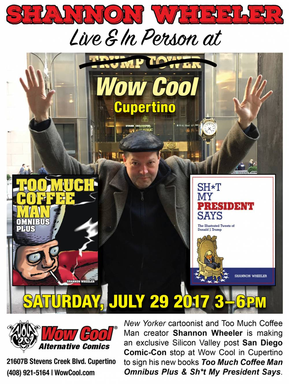 Shannon Wheeler Book Signing at Wow Cool July 29