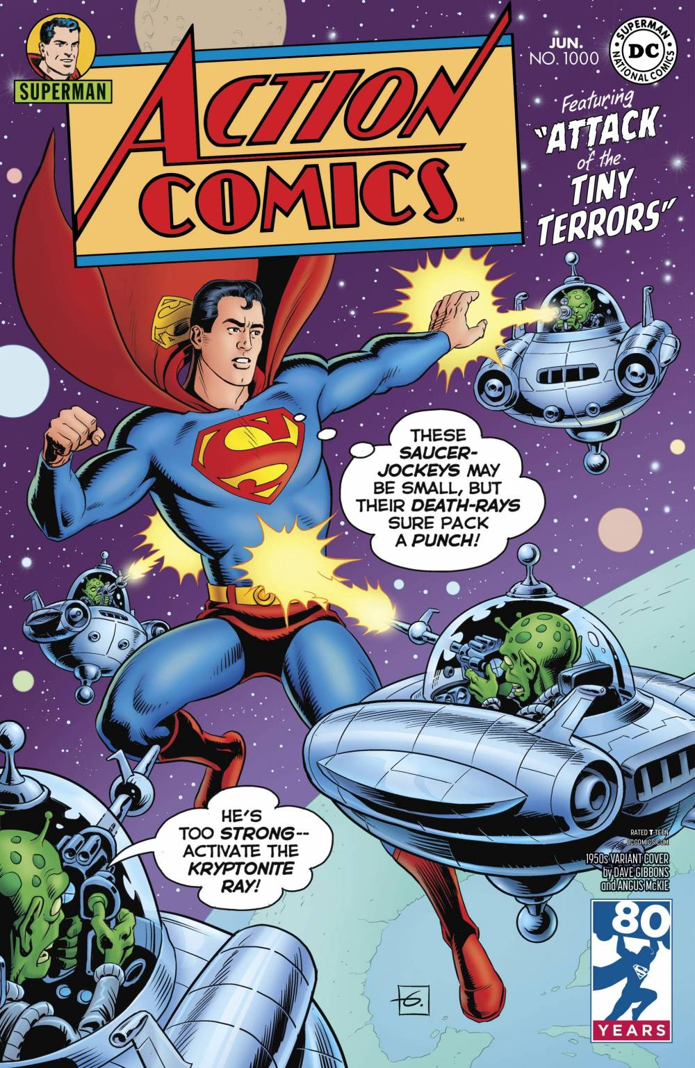 Action Comics 1000 Dave Gibbons 1950s Variant Wow Cool